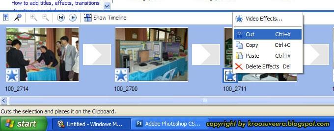 Windows movie maker 99 percent